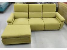 [9成新] 綠色三人座布沙發+腳椅L型沙發無破損有使用痕跡
