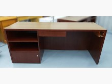 [8成新] E82005*紅木色電腦桌*電腦桌/椅有輕微破損