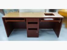 [8成新] E82006*紅木色電腦桌*電腦桌/椅有輕微破損