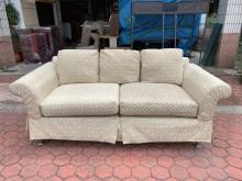 [8成新] 香榭家具*高雅緹花布 三人座沙發雙人沙發有輕微破損