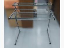 [9成新] E82610*玻璃電腦桌*電腦桌/椅無破損有使用痕跡