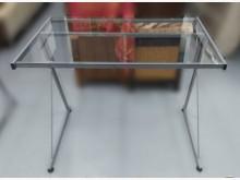 [9成新] E82611*玻璃電腦桌*電腦桌/椅無破損有使用痕跡