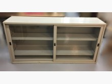 [8成新] C91713*玻璃6尺鐵櫃*辦公櫥櫃有輕微破損