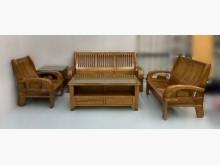 [全新] 全新樟木組椅1+2+3+大小茶几木製沙發全新