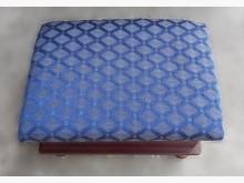 [7成新及以下] F90907*藍布收納椅*沙發矮凳有明顯破損