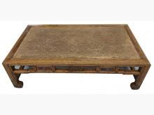 ZM92304*雞翅木4抽長方桌書桌/椅有輕微破損