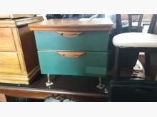 00789-綠色現代風床頭側櫃床頭櫃無破損有使用痕跡