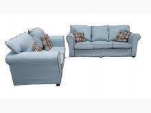 [9成新] A10305  2+3水藍色布沙多件沙發組無破損有使用痕跡