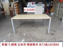 [8成新] A42689 鋼構主管桌 電腦桌辦公桌有輕微破損