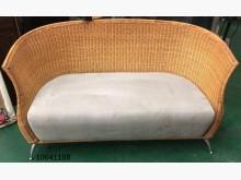 [9成新] 10041108藤製布沙發籐製沙發無破損有使用痕跡
