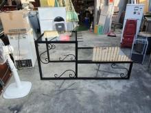 合運二手傢俱黑色鍛造展示平台其它櫥櫃無破損有使用痕跡
