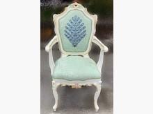 F102005*巴洛客淡綠書桌椅餐椅無破損有使用痕跡