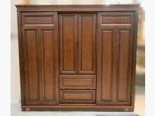 [8成新] B102105*胡桃8尺衣櫃衣櫃/衣櫥有輕微破損