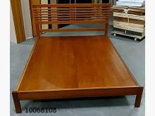 10068108柚木色5尺床架雙人床架無破損有使用痕跡