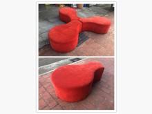 [9成新] 鑫勝2手-紅色接待沙發椅多件沙發組無破損有使用痕跡
