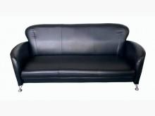 [全新] 全新黑皮三人座沙發 客廳桌椅雙人沙發全新