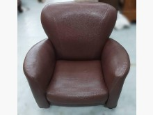 [9成新] A102820*單人咖啡皮沙發單人沙發無破損有使用痕跡