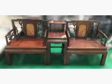 [8成新] RW102903*紅木公婆椅*木製沙發有輕微破損