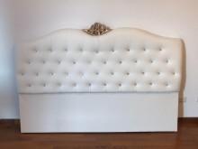 新品6尺溫妮莎白色皮床頭片床頭櫃全新