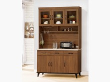 [全新] 喬治胡桃4尺碗碟櫃全組 桃區免運碗盤櫥櫃全新