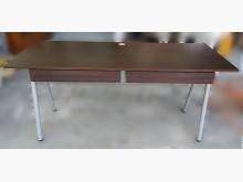 [9成新] E102809*咖啡色二抽書桌電腦桌/椅無破損有使用痕跡