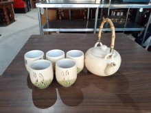 快樂福二手倉庫全新陶瓷繪圖泡茶壺茶壺/水壺全新