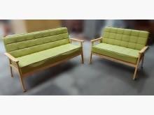 [9成新] A110601*綠色2+3皮沙發多件沙發組無破損有使用痕跡
