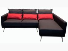 [全新] 全新黑紅L型布沙發L型沙發全新
