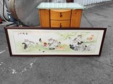 非凡二手 9隻小貓水墨掛畫收藏擺飾無破損有使用痕跡