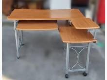 [9成新] E111203*L型電腦桌電腦桌/椅無破損有使用痕跡