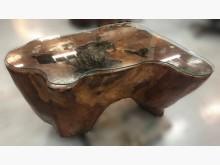 [8成新] LG111272*原木玻璃小泡茶其它桌椅有輕微破損