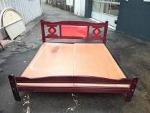 實木古式6尺床架*雙人加大床雙人床架無破損有使用痕跡