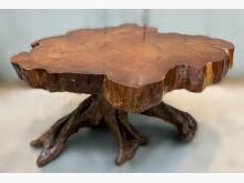 [8成新] LG111915*原木泡茶桌其它桌椅有輕微破損