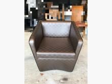 [9成新] 咖啡色格紋珠光合成皮單人沙發單人沙發無破損有使用痕跡
