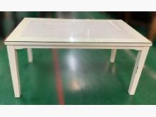 [8成新] E120704*白色玻璃餐桌 *餐桌有輕微破損