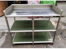 三合二手物流(實用鋁櫃)餐具架/瀝水架有輕微破損