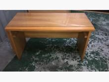 [9成新] 大慶二手家具 柚木色書桌(含玻)書桌/椅無破損有使用痕跡