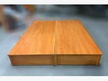 [9成新] B120417* 柚木色雙人床床頭櫃無破損有使用痕跡