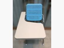 [8成新] F112613*藍色大學椅*書桌/椅有輕微破損