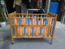 連欣二手傢俱-木製嬰孩床架附輪嬰兒床有輕微破損
