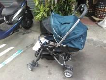[8成新] 連欣二手傢俱-雙向扶手嬰孩推車藍其它有輕微破損