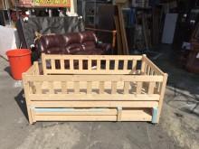 南方松訂製全實木子母床*單人床架其它寢具(飾)無破損有使用痕跡