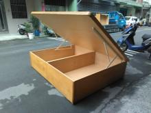 連欣二手傢俱-5尺加厚高側掀床雙人床架無破損有使用痕跡