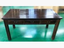 [8成新] ZH122307雞翅木3抽主管桌辦公桌有輕微破損