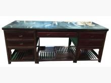 [8成新] ZH122308雞翅木5抽主管桌辦公桌有輕微破損