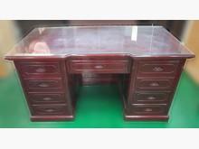 [9成新] 花梨木7抽主管桌* 辦公家具買賣辦公桌無破損有使用痕跡