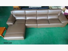 [全新] 88001109卡其色L型皮沙發L型沙發全新