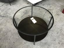 [9成新] 大慶二手家具 圓形玻璃茶几茶几無破損有使用痕跡