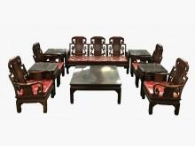 [9成新] 花梨木12件式古董椅*全新中古傢木製沙發無破損有使用痕跡