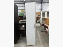 [9成新] 大慶二手家具白色配胡桃單門吊衣櫃衣櫃/衣櫥無破損有使用痕跡